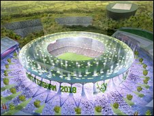 An artists impression of the proposed Forest-drome..