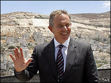 Middle East quartet envoy Tony Blair