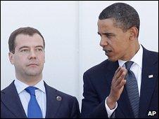 Russian President Dimitry Medvedev and US President Barack Obama