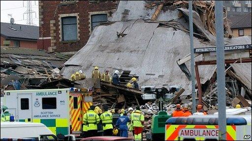 Aftermath of Stockline Plastics explosion