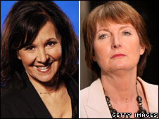 Arlene Phillips, left, and Harriet Harman