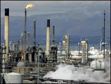 Grangemout petrochemical plant
