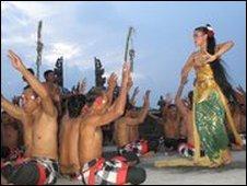 A kecak dance