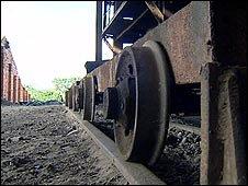Rusting freight train in Likasi
