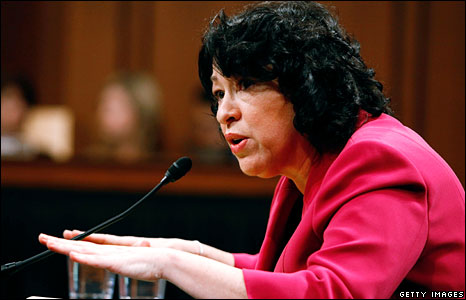 Sonia Sotomayor gives testimony to the US Senate Judiciary Committee during her confirmation hearing, 16 July, 2009