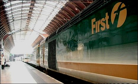 First Great Western train at Paddington, London