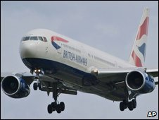 A BA plane