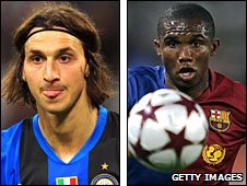Zlatan Ibrahimovic and Samuel Eto'o