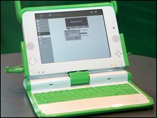 A laptop XO from the One Laptop Per Child Project