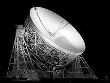 Jodrell Bank's Lovell Telescope (Image courtesy of the Jodrell Centre for Astrophysics, University of Manchester)