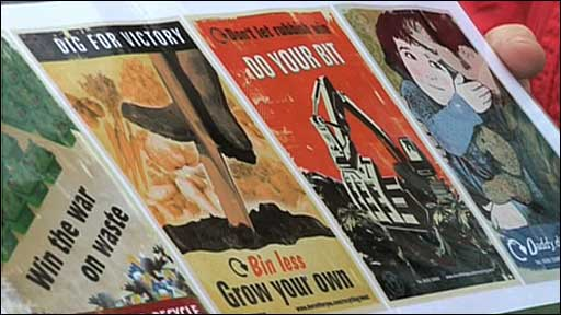 Posters bring a wartime message to recycling