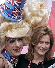 Sarah Brown at the Gay Pride march