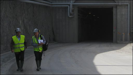 Rob Broomby at a Finnish nuclear waste repository