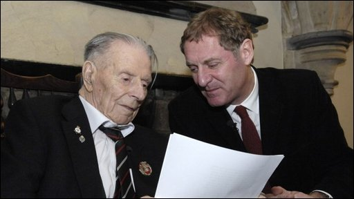 Harry Patch and Andrew Motion