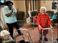A scene is a nursing home