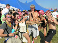 WOMAD festival goers in 2008