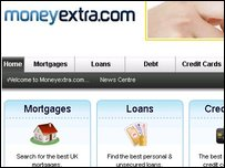 The Moneyextra website