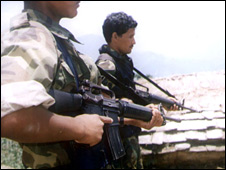 File image of Nepal's Maoist rebels, January 2004