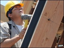 A construction worker in California