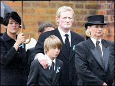Colin Hendry puts his arm around son Callum