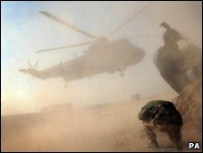 Helicopter in Afghanistan