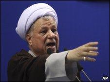 Former Iranian President Ali Akbar Rafsanjani in Tehran, Iran, on 17 July 2009