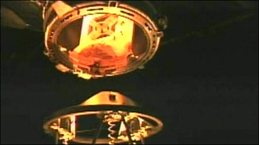 Endeavour docking at Space Station