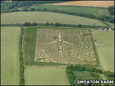 Smeaton Farm's maize turbine