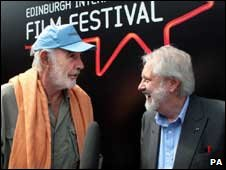 Sir Sean Connery and Lord David Putnam at the Edinburgh International Film Festival