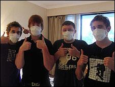 Four British pupils in Beijing hotel
