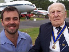 Glyn Bailey and Mr Allingham at RAF Cosford