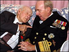 Henry Allingham and Admiral Sir Raymond Lygo