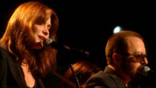 Carla Bruni and Dave Stewart