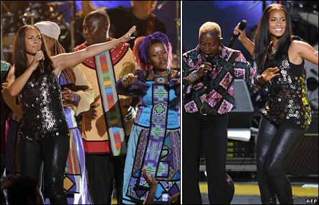 Alicia Keyes and Angelique Kidjo