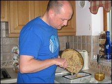 Carl Yapp making a bara brith