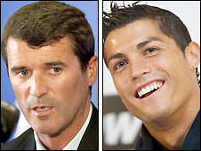 Roy Keane and Cristiano Ronaldo