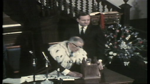 Neil Armstrong recieves the Freedom of Langholm