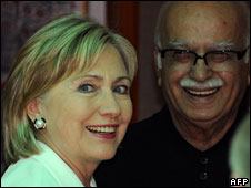 Hillary Clinton and LK Advani