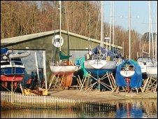 The Elephant Boatyard in Bursledon