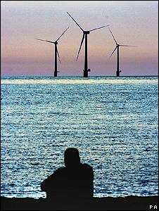 Offshore wind turbines (Image: BBC)