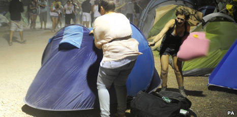 Tents at Benicassim