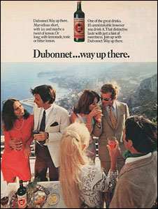 Dubonnet advert in the 1960s