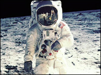 Edwin Aldrin on the Moon