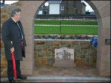 St Ouen Constable Ken Vibert at the village green