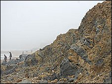 Charmouth landslip - February 2009