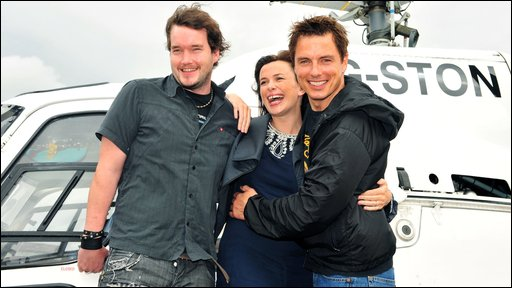 The Torchwood cast arrive in Cardiff