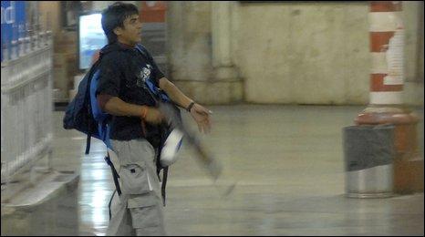 Mumbai gunman, identified as Mohammed Ajmal Amir Qasab