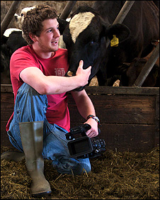 Will McGregor and a cow