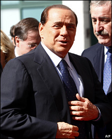 Silvio Berlusconi in Milan (20 July 2009)