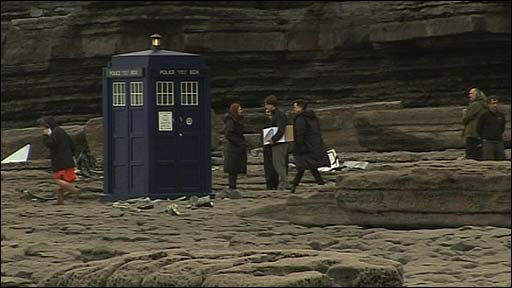 Dr Who takes place on a beach